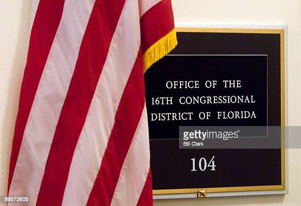 Rep Mark Foley's name has been removed from his former office in the Cannon House Office Building on Monday Oct 2 2006 Foley resigned from Congress...