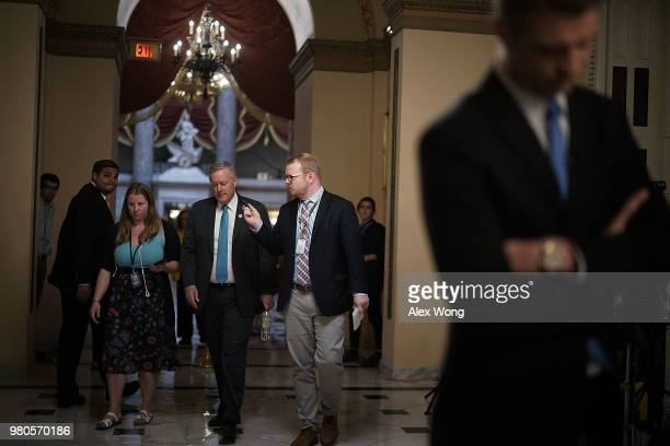 S Rep Mark Meadows at the US Capitol prior to a vote June 21 2018 in Washington DC Due to the defeat of a conservative immigration bill today House...