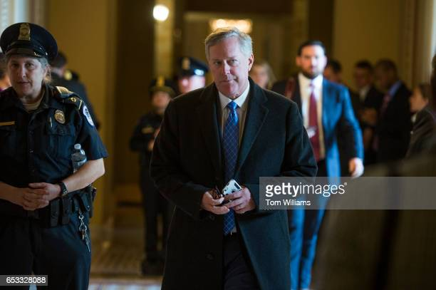 Rep Mark Meadows RNC makes his way to the Senate side of the Capitol March 14 2017