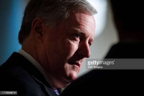 Rep Mark Meadows RNC speaks to the media in the Capitol Visitor Center after Gordon Sondland US ambassador to the European Union was blocked by the...