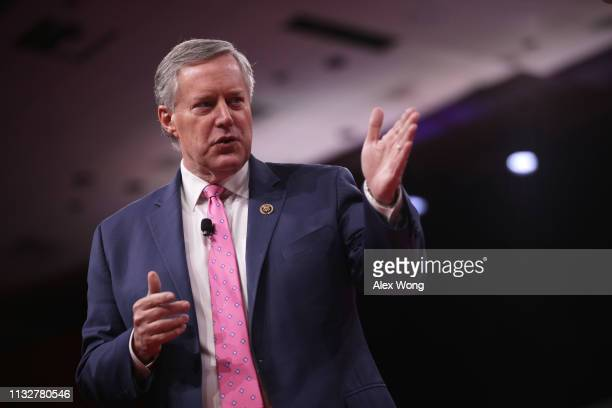 S Rep Mark Meadows speaks during CPAC 2019 February 28 2019 in National Harbor Maryland The American Conservative Union hosts the annual Conservative...