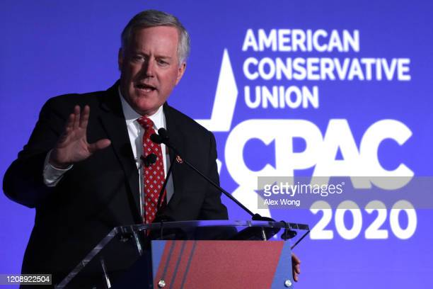S Rep Mark Meadows speaks during the CPAC Direct Action Training at the annual Conservative Political Action Conference at Gaylord National Resort...