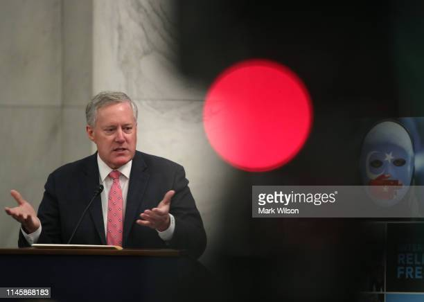 Rep Mark Meadows speaks during the US Commission on International Religious Freedoms discussion about its 2019 Annual Report on April 29 2019 in...