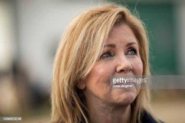 S Rep Marsha Blackburn Republican candidate for US Senate attends Franklin Family Day at Harlinsdale Farm November 3 2018 in Franklin Tennessee...