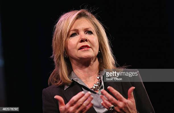 S Rep Marsha Blackburn speaks to guests at the Iowa Freedom Summit on January 24 2015 in Des Moines Iowa The summit is hosting a group of potential...