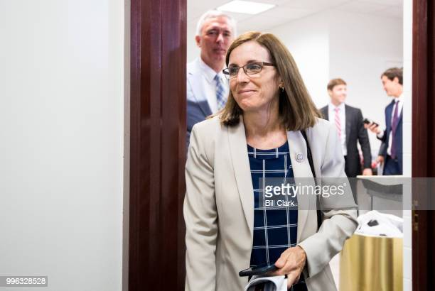 Rep Martha McSally RAriz leaves the House Republican Conference meeting in the Capitol on Wednesday July 11 2018