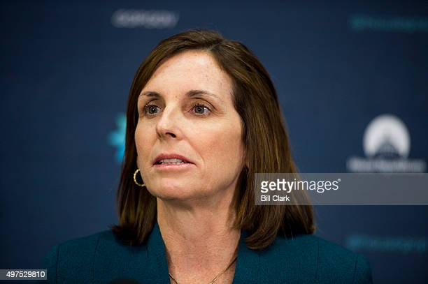 Rep Martha McSally RAriz speaks to the media following the House Republican Conference meeting in the basement of the Capitol on Tuesday Nov 17 2015