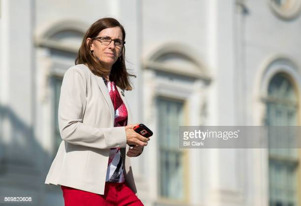 Rep Martha McSally RAriz walks down the House steps after voting in the Capitol on Friday Nov 3 2017