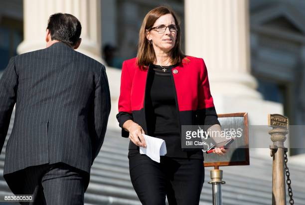 Rep Martha McSally RAriz walks down the House steps following a vote in the Capitol on Friday Dec 1 2017
