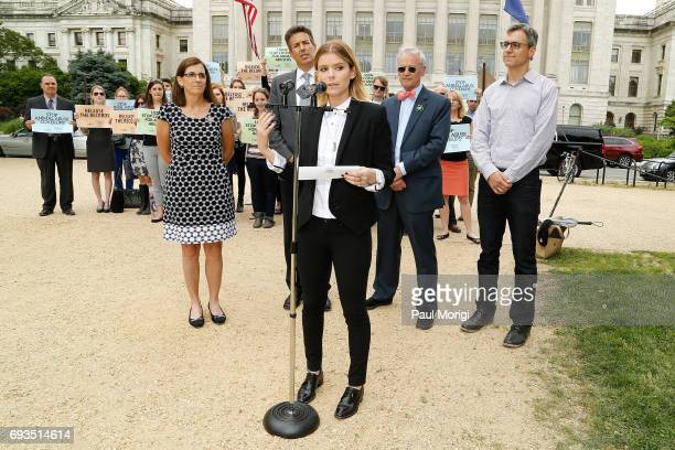Rep Martha McSally RAZ Kate Mara Wayne Pacelle CEO HSUS Rep Earl Blumenauer and Randy Paynter CEO Care2 join The Humane Society of the United States'...