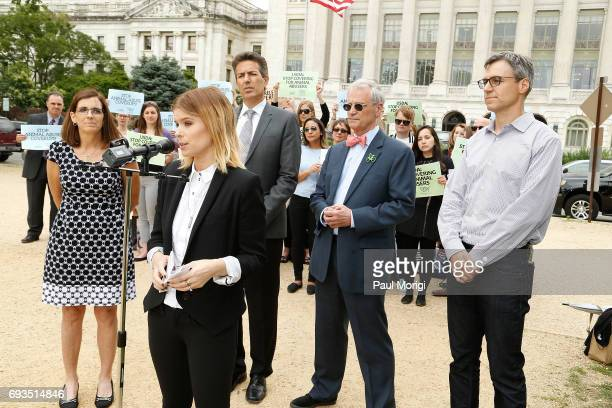 Rep Martha McSally RAZ Kate Mara Wayne Pacelle Rep Earl Blumenauer and Randy Paynter CEO Care2 join The Humane Society of the United States' rally at...