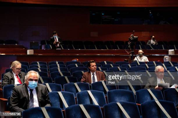 S Rep Matt Gaetz attends a hearing of the House Judiciary Committee on June 24 2020 in Washington DC Democrats are highlighting what they say is the...