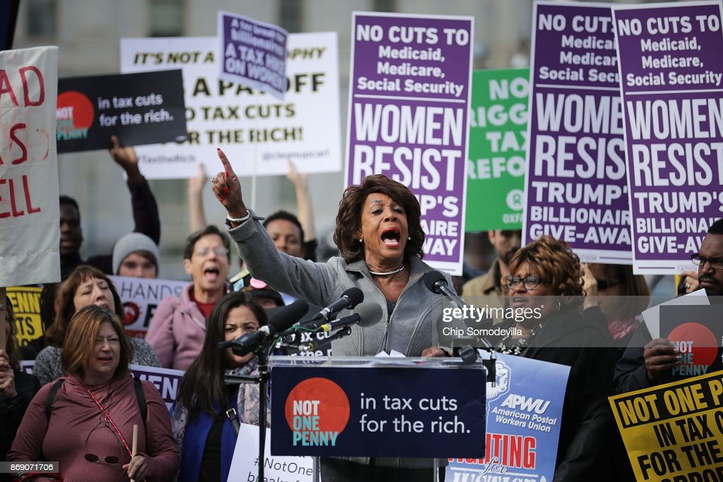 Congressional Democrats Hold Rally At U.S. Capitol Against GOP Tax Plan : News Photo