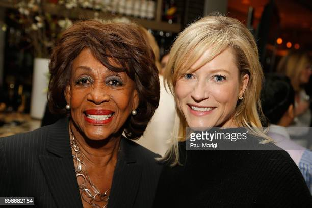 Rep Maxine Waters left and Jennifer Tapper attend ELLE and Bottega Veneta Women in Washington dinner hosted by Robbie Myers ELLE EditorinChief at...