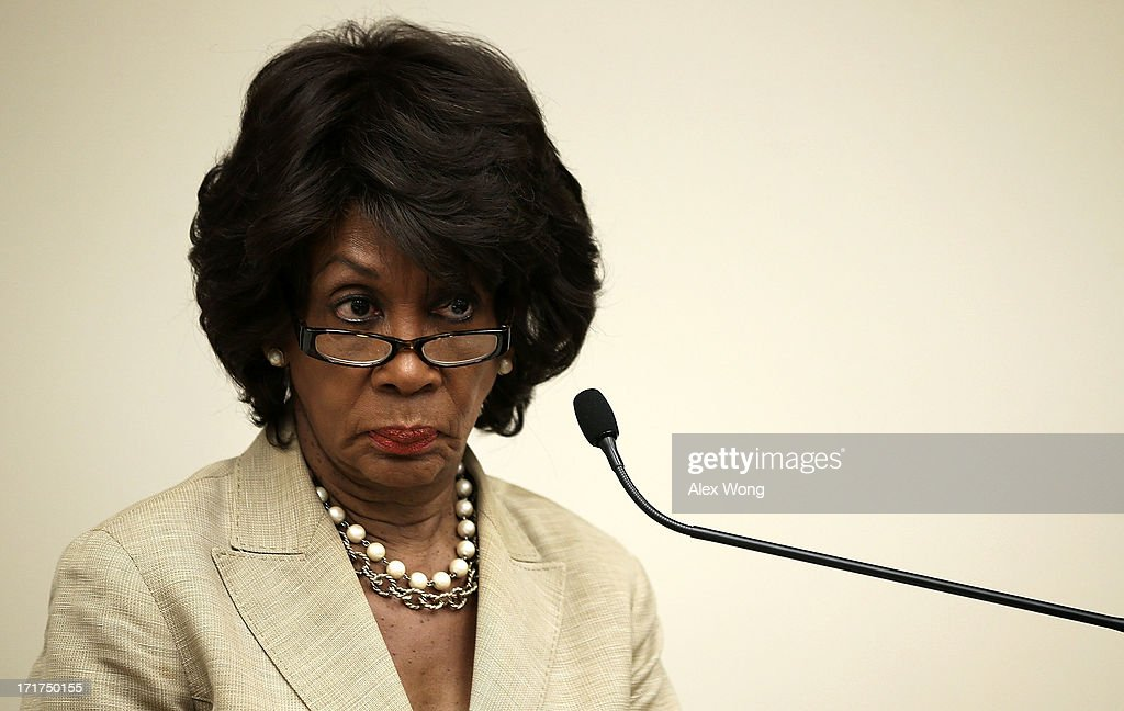 U.S. Rep. Maxine Waters (D-CA) listens during a discussion June 28, 2013 on Capitol Hill in Washington, DC. Rep. Waters held the discussion on 'A Way Forward For Housing Finance Reform: Finding Sustainable Solutions to Ensure Access, Affordability, and Taxpayer Protection Part II.'