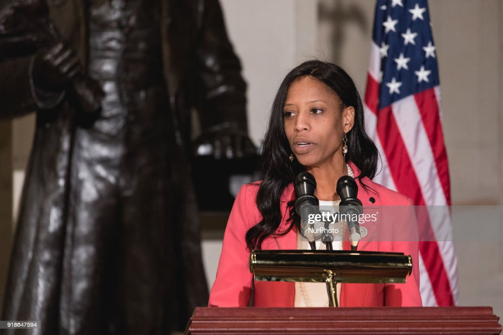 Frederick Douglass's Birthday Honored On Capitol Hill : News Photo