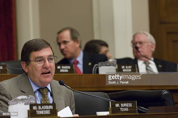 Rep Michael C Burgess RTexas during the House Energy and Commerce Subcommittee on Health markup of a bill to amend the Federal Food Drug and Cosmetic...