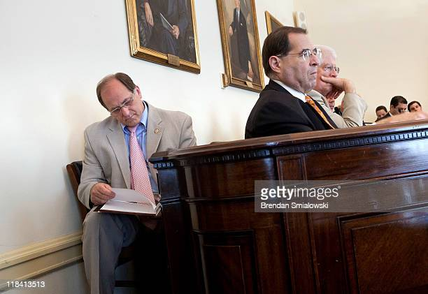 Rep Michael Capuano Rep Jerry Nadler Rep David Price and others during a hearing of the House Democratic Steering Hearing on Capitol Hill July 7 2011...