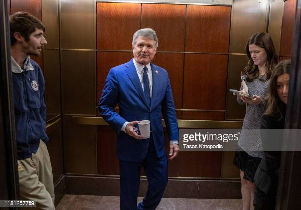 S Rep Michael McCaul leaves after a closed session before the House Intelligence Foreign Affairs and Oversight committees October 15 2019 at the US...