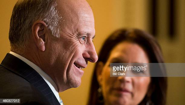 Rep. Michele Bachmann, R-Minn., and Rep. Steve King, R-Iowa, speak to Fox News in the U.S. Capitol on Thursday, Dec. 11 as House leaders try to find...
