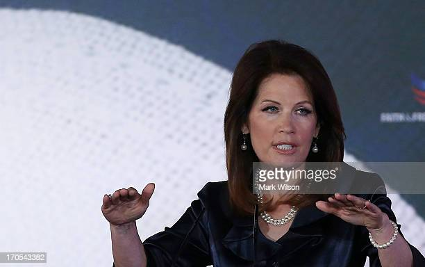Rep. Michele Bachmann speaks at the Faith & Freedom Coalition conference, June 14, 2013 in Washington, DC. The Faith and Freedom Coalition is a group...