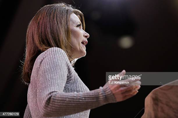 Rep. Michele Bachmann speaks during the 41st annual Conservative Political Action Conference at the Gaylord International Hotel and Conference Center...