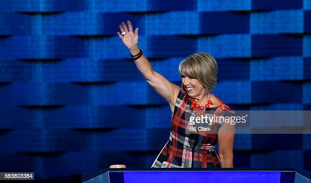Rep Michelle Lujan Grisham DNM speaks at the Democratic National Convention in Philadelphia on Wednesday July 27 2016