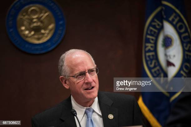 Rep Mike Conaway now leading the House Intelligence investigation after Devin Nunes was forced to recuse himself arrives for a hearing featuring...