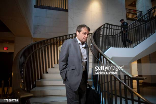 Rep Mike Quigley DIll arrives for the deposition of US Ambassador to the European Union Gordon Sondland at the Capitol in Washington on Thursday Oct...