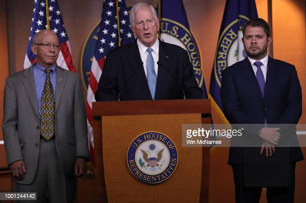 Rep Mike Thompson speaks during a press conference at the US Capitol July 18 2018 in Washington DC Thompson and other members of the House Democratic...