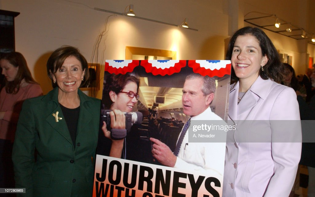 Rep. Nancy Pelosi, (D-San Francisco), and daughter Alexandra Pelosi, director of 'Journeys with George'