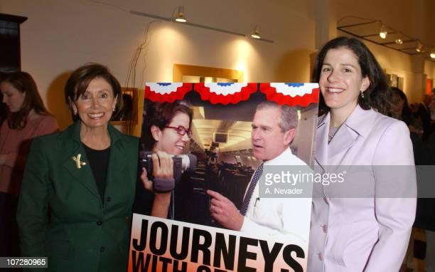 Rep Nancy Pelosi and daughter Alexandra Pelosi director of Journeys with George