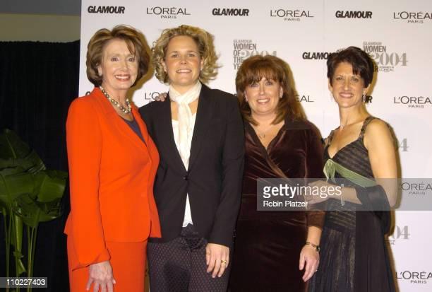 Rep Nancy Pelosi and the 9/11 widows Kristin Breitweiser Patty Casazza and Lorie Van Auken