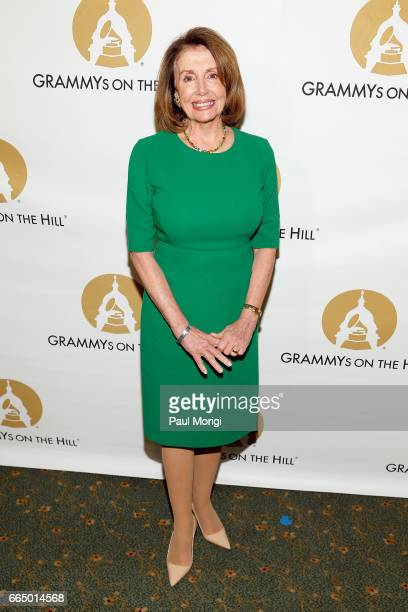 Rep Nancy Pelosi at The Recording Academy®'s 2017 GRAMMYs on the Hill® Awards on April 5 to honor fourtime GRAMMY® winner Keith Urban with the...