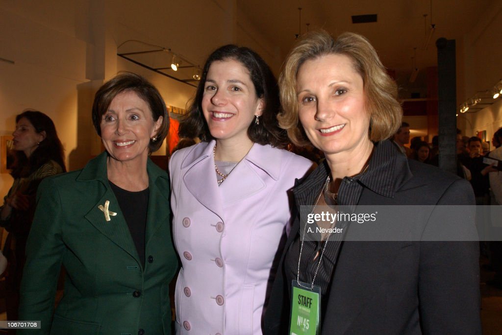 Rep. Nancy Pelosi, (D-San Francisco), daughter Alexandra Pelosi, director of 'Journeys with George,' and Roxanne Messina Captor, Director of the San Francisco International Film Festival