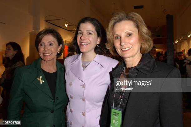 Rep Nancy Pelosi daughter Alexandra Pelosi director of Journeys with George and Roxanne Messina Captor Director of the San Francisco International...