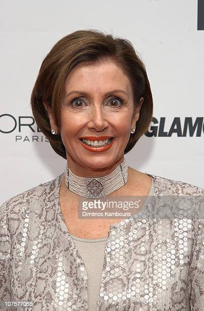 Rep Nancy Pelosi during 13th Annual Glamour Magazine's Women of the Year Awards Arrivals at Metropolitan Museum of Art in New York City New York...