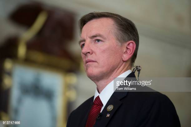 Rep Paul Gosar RAriz is seen in the Capitol's Statuary Hall before President Donald Trump's State of the Union address to a joint session of Congress...