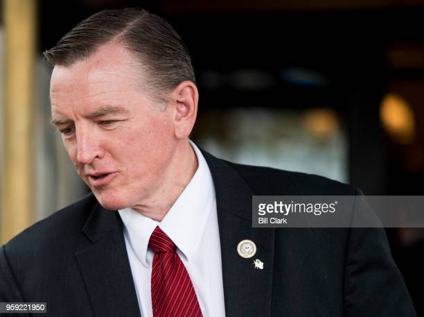 Rep Paul Gosar RAriz leaves the House Republican Conference meeting at the Capitol Hill Club on Wednesday May 16 2018