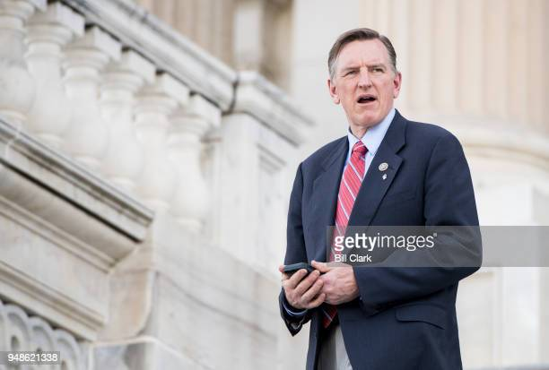 Rep Paul Gosar RAriz walks down the House steps after final votes of the week on Wednesday April 18 2018