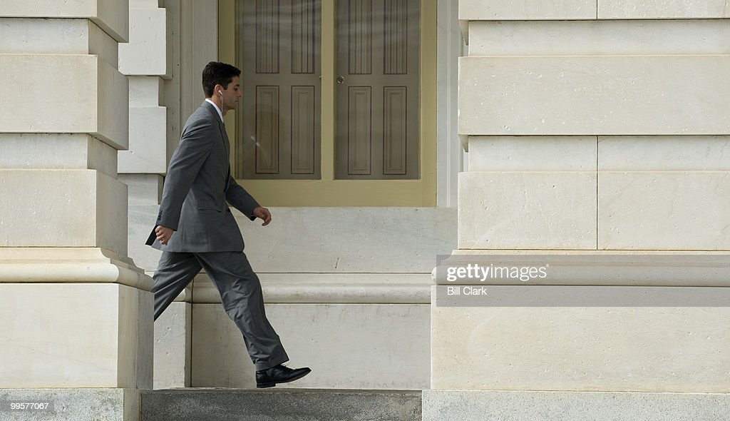Rep. Paul Ryan, R-Wisc., heads to the House Floor for votes on Thursday, Oct. 22, 2009.
