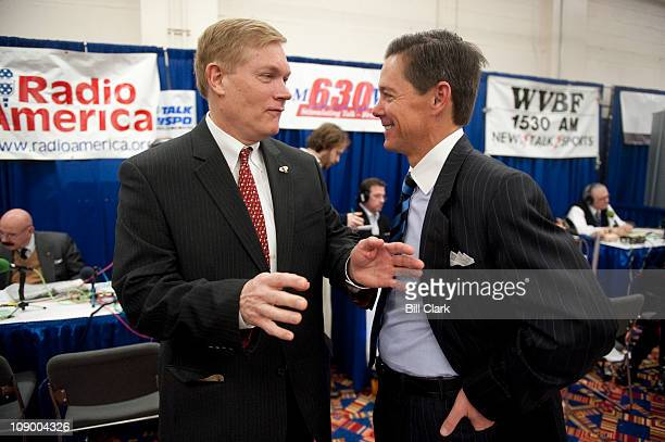 Rep. Pete Sessions, R-Texas, left, speaks with Ralph Reed, conservative activist and former head of the Christian Coalition, CPAC Conference held by...