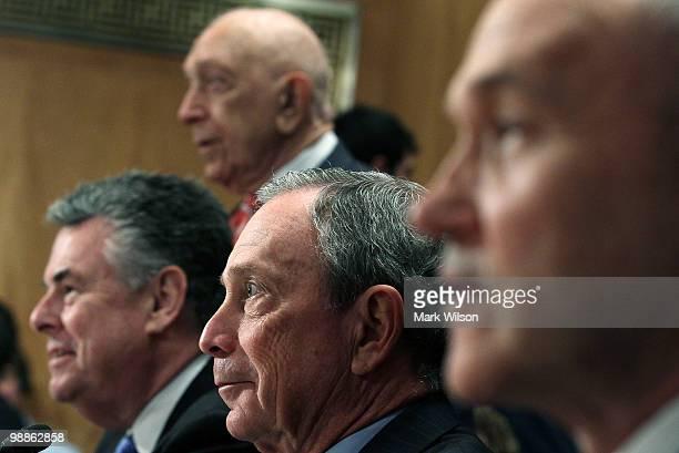 Rep Peter King Sen Frank Lautenberg New York City Mayor Michael Bloomberg and New York City Police Commissioner Raymond Kelly participate in Senate...