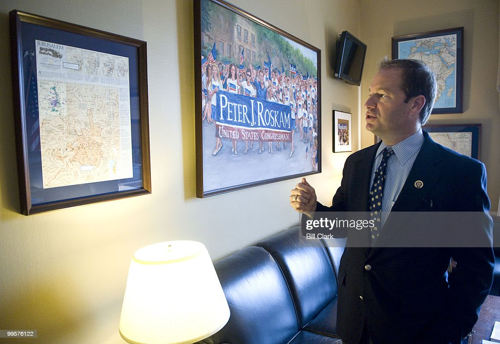 Rep. Peter Roskam, R-Ill., gives Roll Call a tour of his office on the 5th floor of the Canon House Office Building on Friday, Oct. 23, 2009.