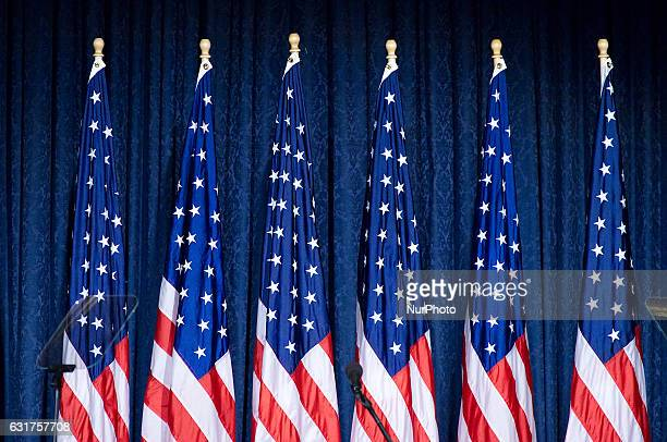 Rep. Presidential nominee Donald Trump and Retired Lt. Gen. Mike Flynn unveil the campaign's Security and Foreign Policy at a September 7, 2016...