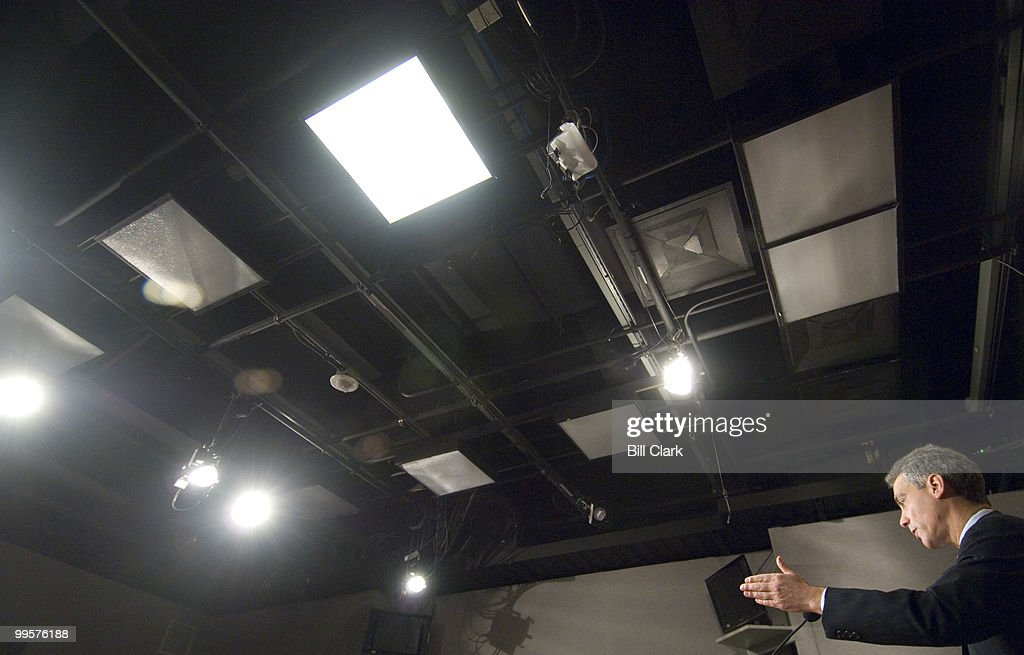 Rep. Rahm Emanuel, D-Ill., holds a news conference in the House Radio/TV Gallery studio to respond to President Bush's news conference earlier in the day on Tuesday, Dec. 4, 2007.