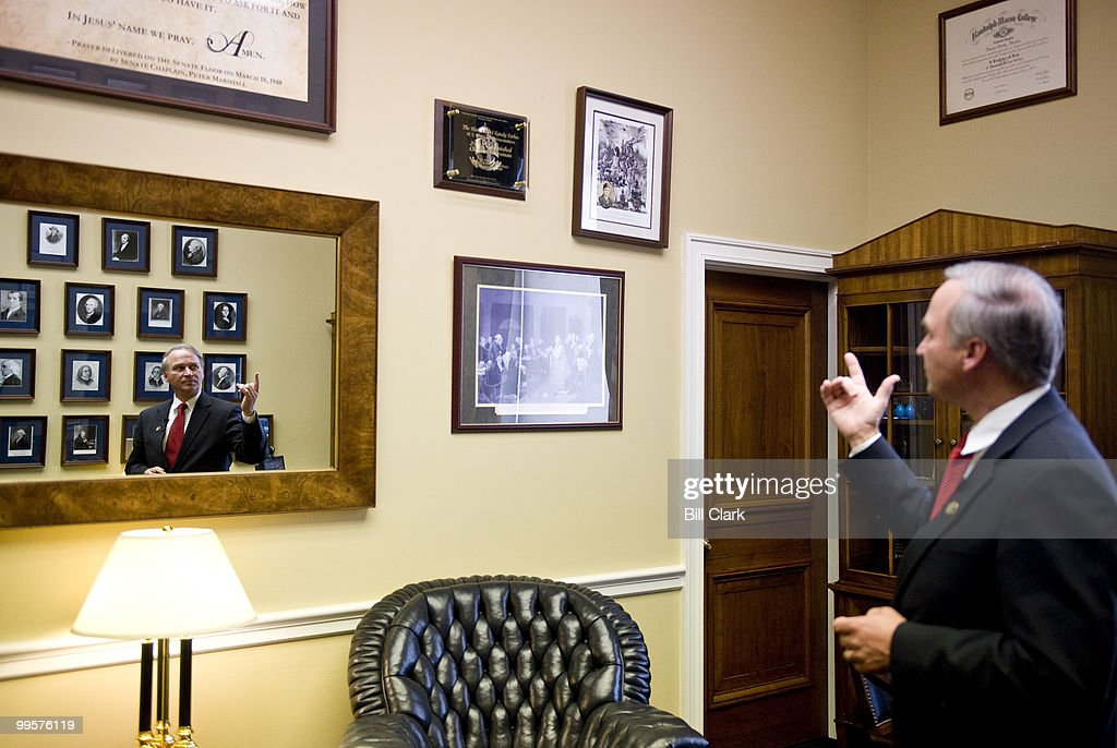 Rep. Randy Forbes, R-Va., gives Roll Call a tour of his office in the Rayburn House Office Building on Thursday, Sept. 24, 2009.