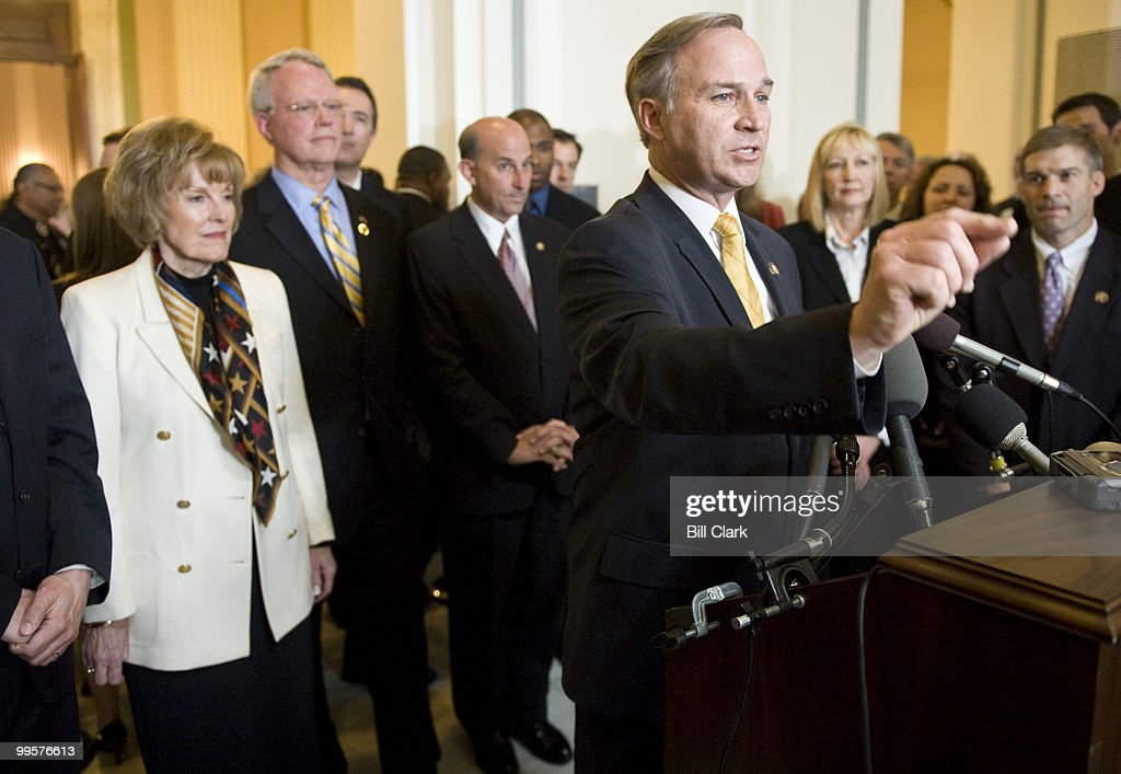 Rep. Randy Forbes, R-Va., Prayer Caucus co-chairman, speaks during a news conference at the conclusion of the National Day of Prayer event in the Cannon Caucus Room on Thursday, May 7, 2009.