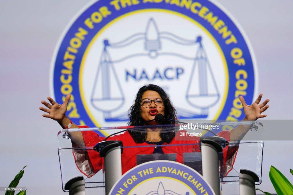Lawmakers And Presidential Candidates Attend NAACP National Convention : News Photo