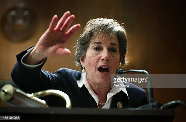 S Rep Rep Jan Schakowsky speaks during a briefing on Rising Inequality and Its Impact on Social Security February 10 2015 on Capitol Hill in...